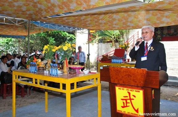 Ông Võ Văn Hiến - Phó Chủ tịch Hội đồng dòng họ Vũ